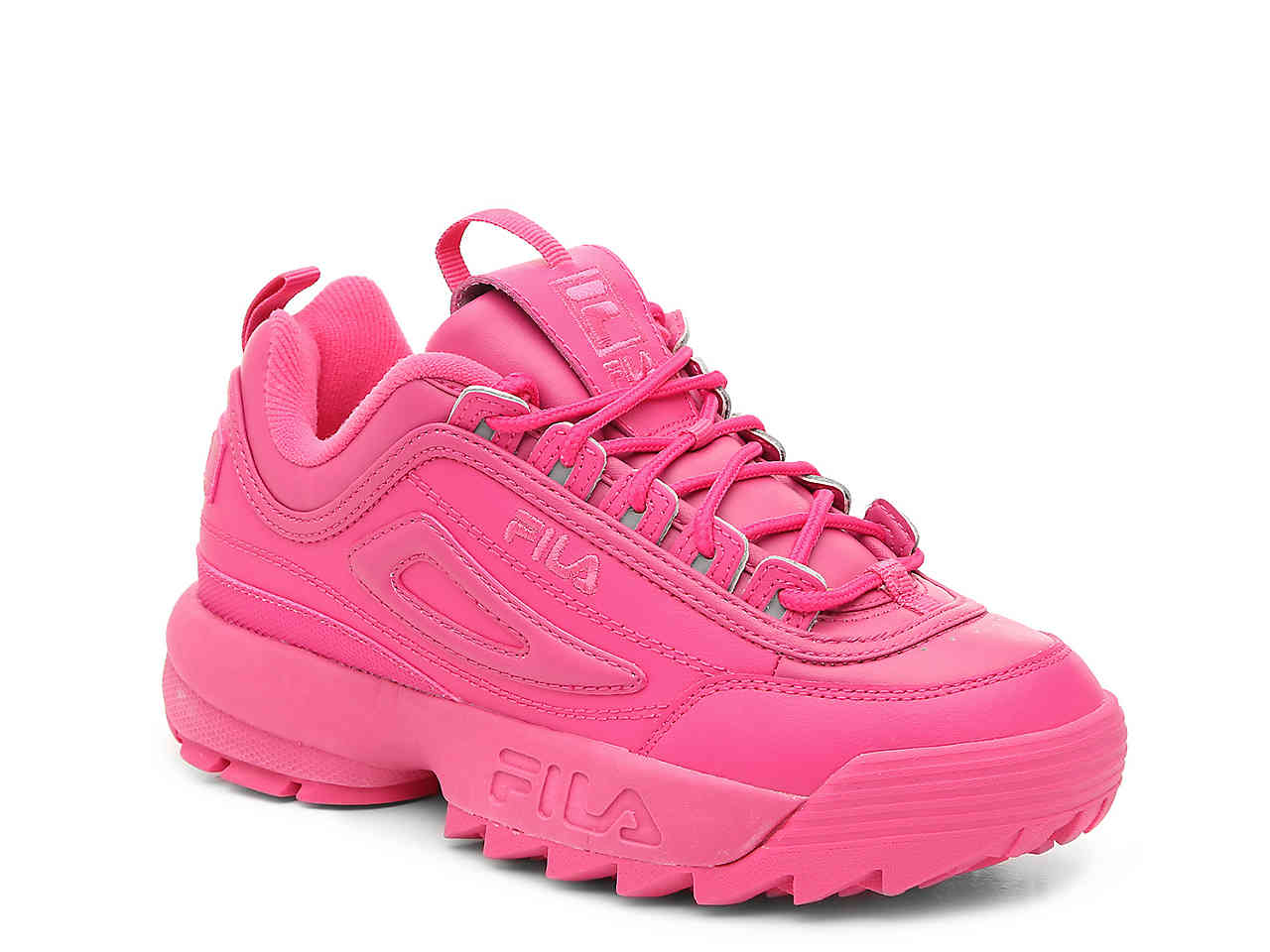 pink fila shoes